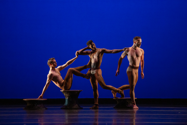 Llyod Mayor, Llyod Knight and Alessio Crognale in Martha Graham's Secular Games. Photo by Luis Luque.