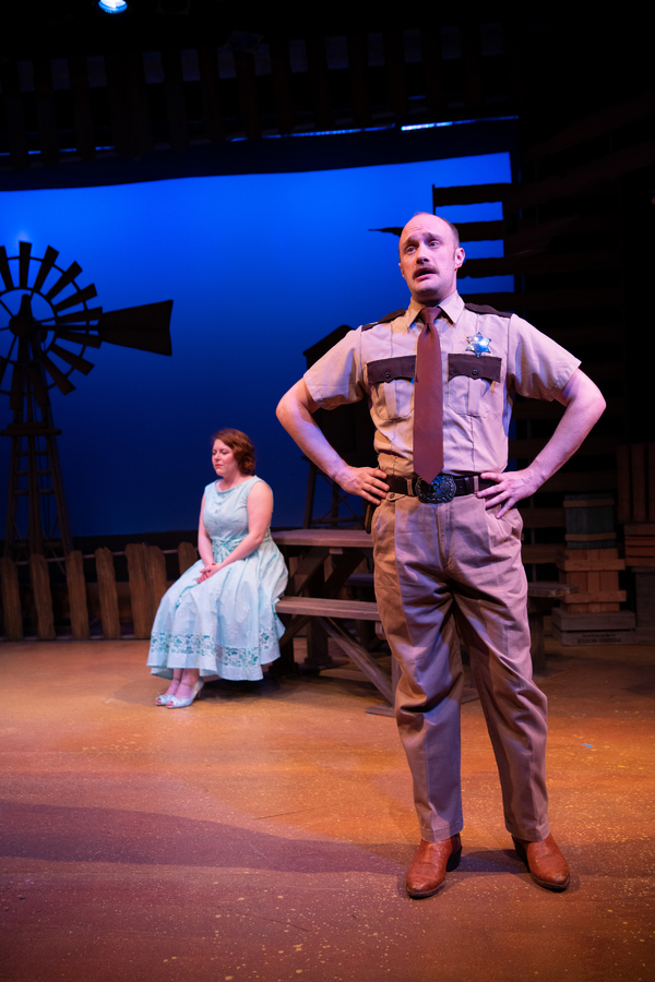 Brian Watson (right) as Sherrif File with Andrea Dennison-Laufer as Lizzie Curry Photo