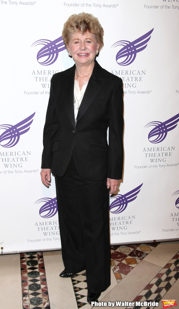Jo Sullivan Loesser attending The 2010 American Theatre Wing Gala celebrating the Centennial of Frank Loesser at Cipriani, New York City. June 7, 2010