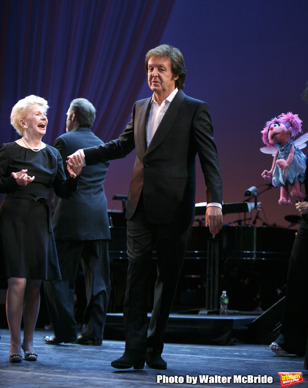 Paul McCartney & Jo Sullivan Loesser at The Curtain Call for Chance & Chemistry: A Ce Photo