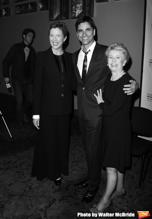 Annette Bening, John Stamos, Jo Sullivan Loser Backstage for Chance & Chemistry: A Centennial  Celebration of Frank Loesser- an Actors Fund Benefit at the Minskoff Theatre in New York City. October 26, 2009