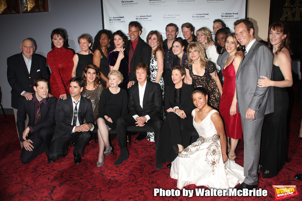 John Stamos, Jo Sullivan Loesser, Paul McCartney, Annette Bening, Nia Vardalis, Ana Gasteyer, Audra McDonald, Michele Lee, Patrick Wilson & ensemble cast Backstage for Chance & Chemistry: A Centennial Celebration of Frank Loesser- an Actors Fund Benefit a