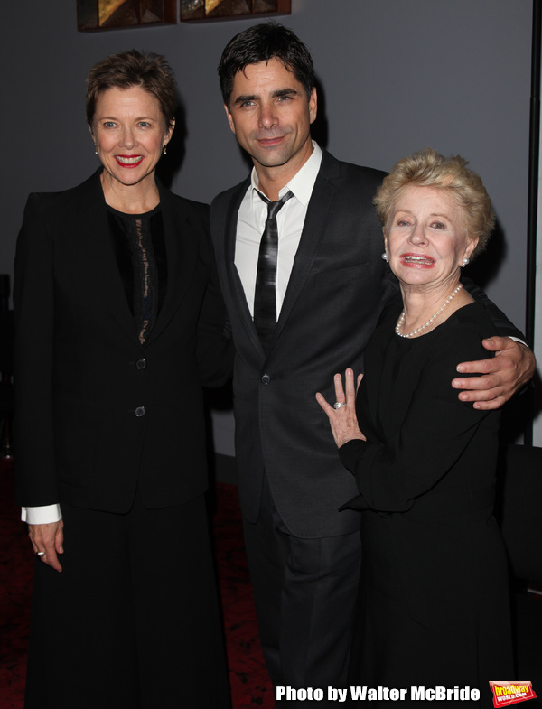 Annette Bening, John Stamos, Jo Sullivan Loesser Backstage for Chance & Chemistry: A Centennial Celebration of Frank Loesser- an Actors Fund Benefit at the Minskoff Theatre in New York City. October 26, 2009