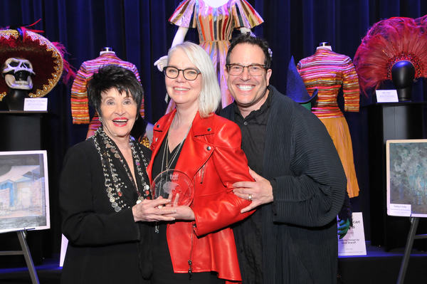 Chita Rivera and Michael Mayer with Susan Hilferty