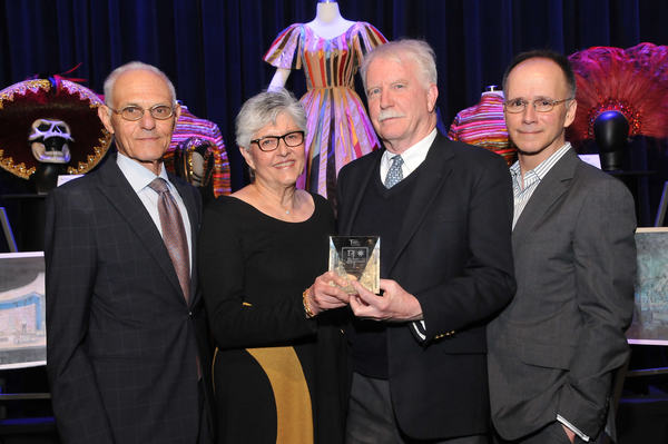 Tobin Theatre Arts Funds Mel Weingart, Linda Hardberger, Robert Perdziola with Tobin Awardee John Lee Beatty