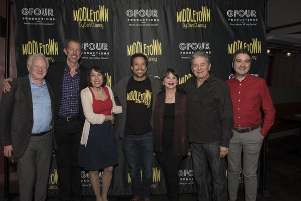 Cast with Alex Fraser, Seth Greenleaf and Josh Fiedler Photo