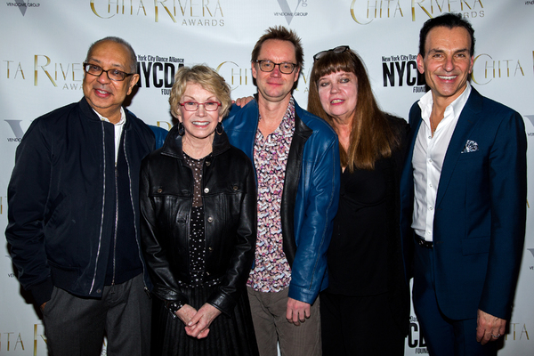 George C. Wolfe, Sandy Duncan, Michael Riedel, Patricia Watt, Joe Lanteri Photo