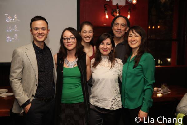Jeffrey Omura, playwright Sam Chanse, Emma Kikue, director Shelley Butler, Thom Sesma and Kimiye Corwin