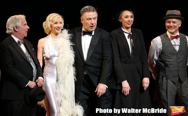 Henry Winkler, Anne Heche, Alec Baldwin, Julie Halston and Dan Butler with cast  Photo