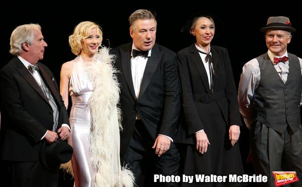 Henry Winkler, Anne Heche, Alec Baldwin, Julie Halston and Dan Butler with cast