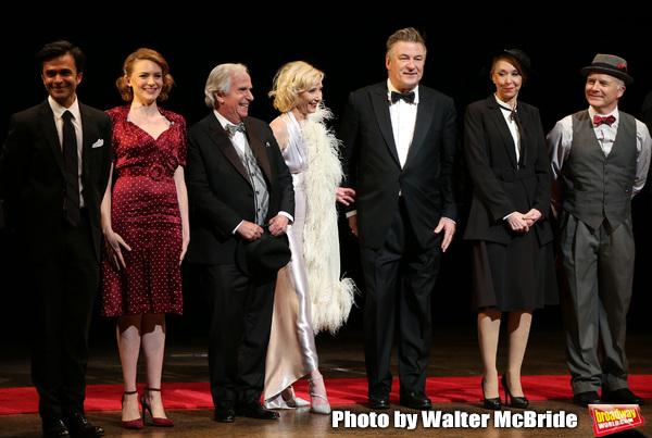 Nick Choksi, Holley Fain, Henry Winkler, Anne Heche, Alec Baldwin, Julie Halston and Dan Butler with cast