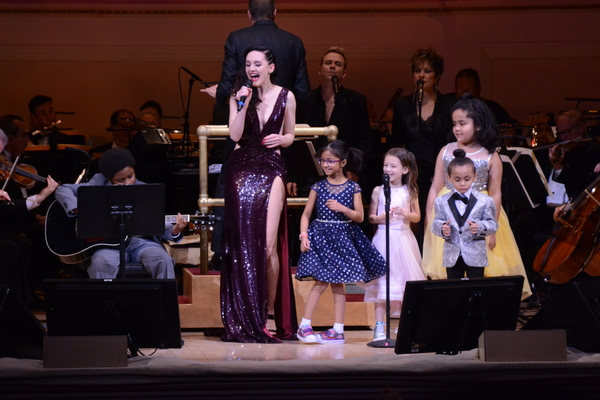 Lena Hall and The Children of Ronald McDonald House New York Photo