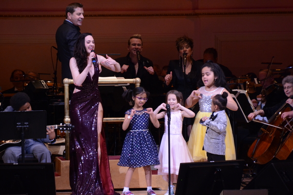 Steven Reineke, Lena Hall and The Children of Ronald McDonald House New York Photo