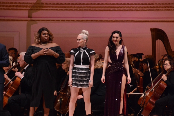 Alex Newell, Ingrid Michaelson and Lena Hall Photo
