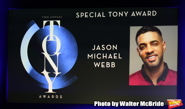 Special Tony Award to Jason Michael Webb