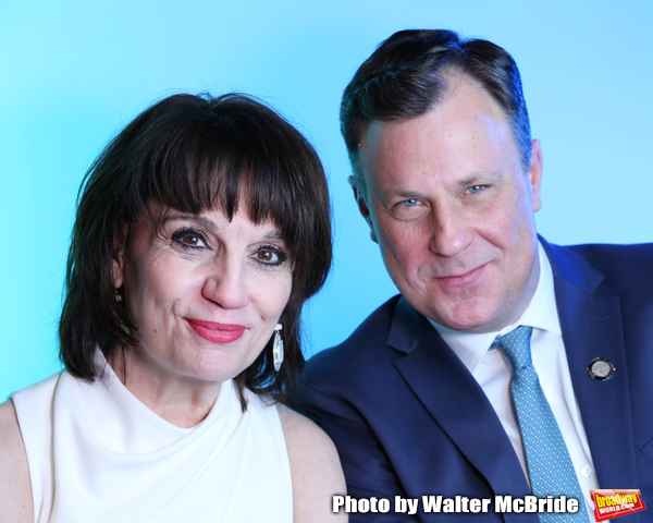 Beth Leavel and Brooks Ashmanskas during The 73rd Annual Tony Awards Meet The Nominees Press Day at the Sofitel Hotel on May 01, 2019 in New York City.