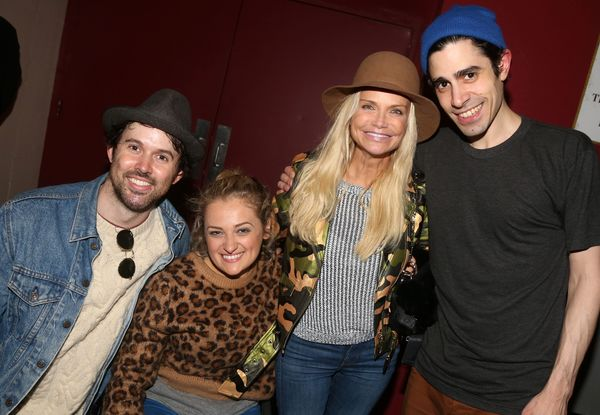 Photo Flash: Oh What a Beautiful Evening! Kristin Chenoweth and Jesse Tyler Ferguson Visit OKLAHOMA!