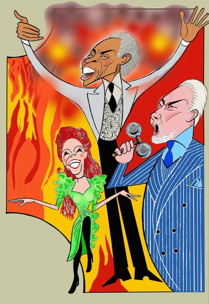 BWW Exclusive: Ken Fallin Draws the Stage - HADESTOWN