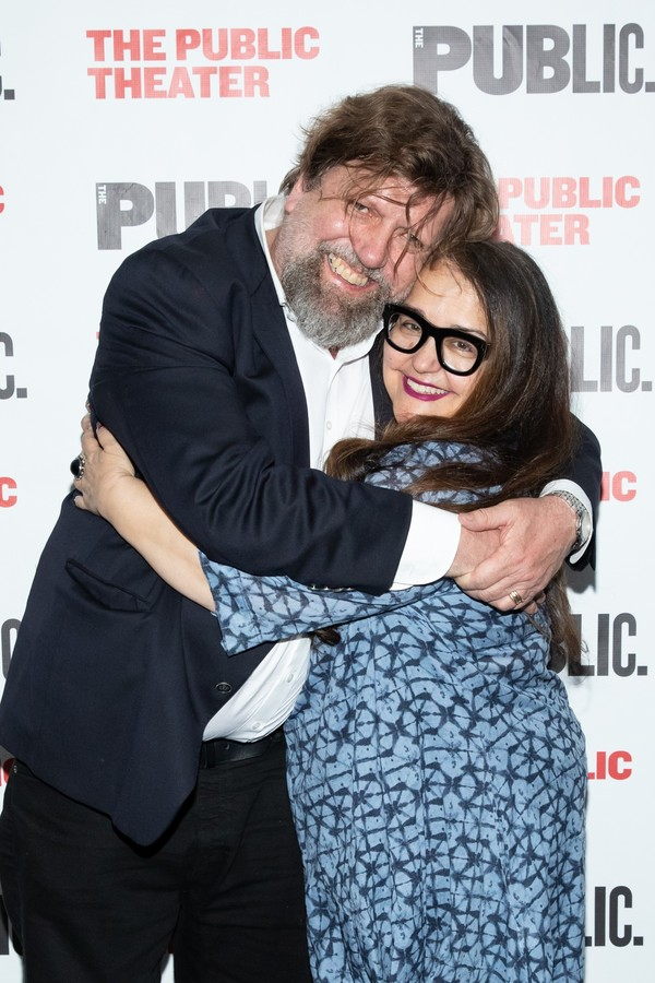 Oskar Eustis and Laurie Woolery