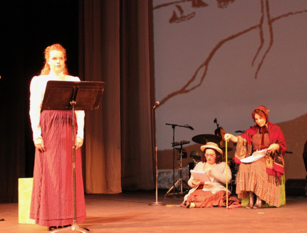 Alyssa M. Simmons, Jennifer Bennett and Eileen Barnett    photo by Lewis Wilkenfeld