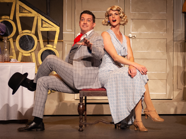 Gary Rucker ( Bill Snibson) and Laura Booras (Lady Jacqueline)  Photo