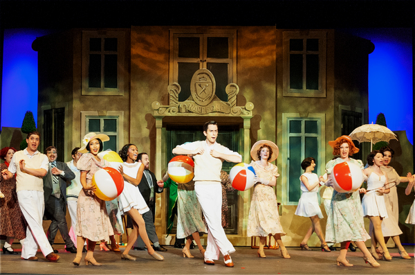 "Bryce Slocumb (Gerlad) leads the Me and My Girl company in ""Sun Has Got His Hat On"""