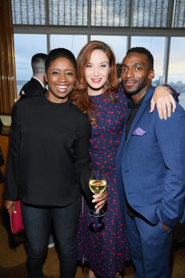 Montego Glover , Sierra Boggess and Daniel J. Watts  Photo