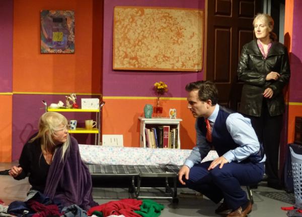 Meg Wallace (Cathereine), Brian Kavanaugh (Robert) and Kathy Bell Denton (Alice)