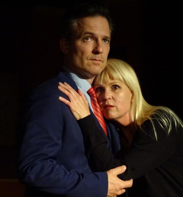 Brian Kavanaugh (Robert) and Meg Wallace (Catherine)