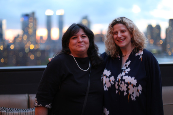 LPTW Co-VP of Programming Joan Kane and Co-President Catherine Porter enjoy the rooft Photo