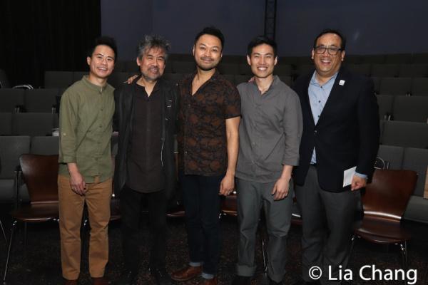 Whit K. Lee, David Henry Hwang, Billy Bustamante, Tobias C. Wong and Max Chang Photo