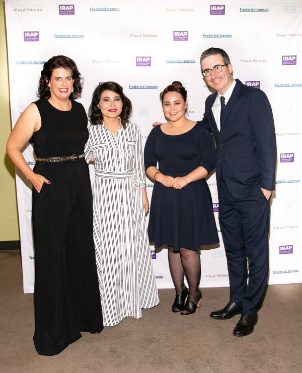 Becca Heller, Sourya Saleh, Masooma Hussaini, John Oliver