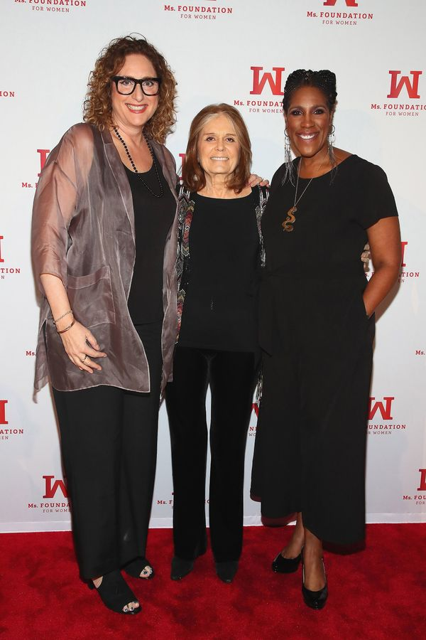 Judy Gold, Founding Mother, Ms. Foundation Gloria Steinem and President & CEO of Ms. Foundation Teresa Younger