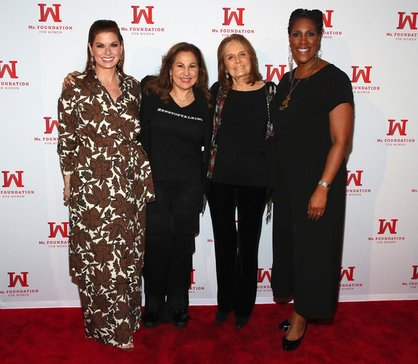 Kathy Najimy, Founding Mother, Ms. Foundation Gloria Steinem, Debra Messing and President & CEO of Ms. Foundation Teresa Younger