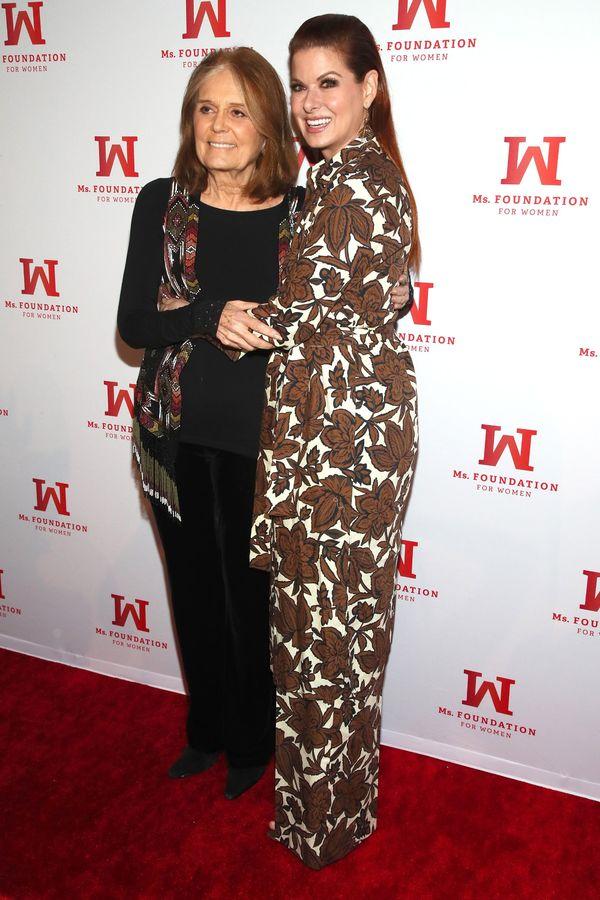 Gloria Steinem and Debra Messing