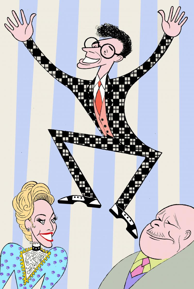 BWW Exclusive: Ken Fallin Draws the Stage - HIGH BUTTON SHOES