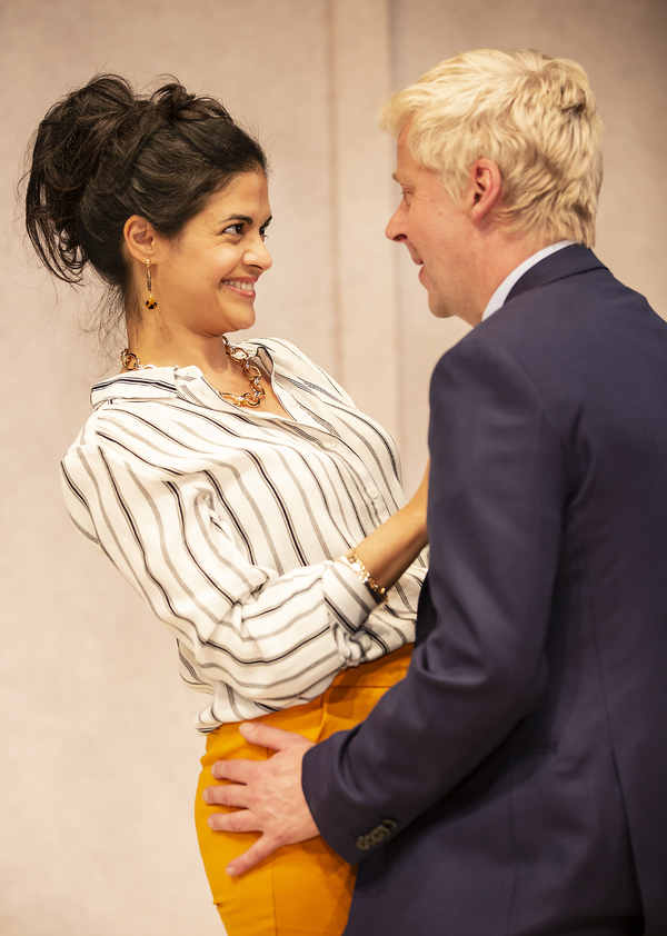 Davina Moon as Anita & Will Barton as Boris Johnson Photo