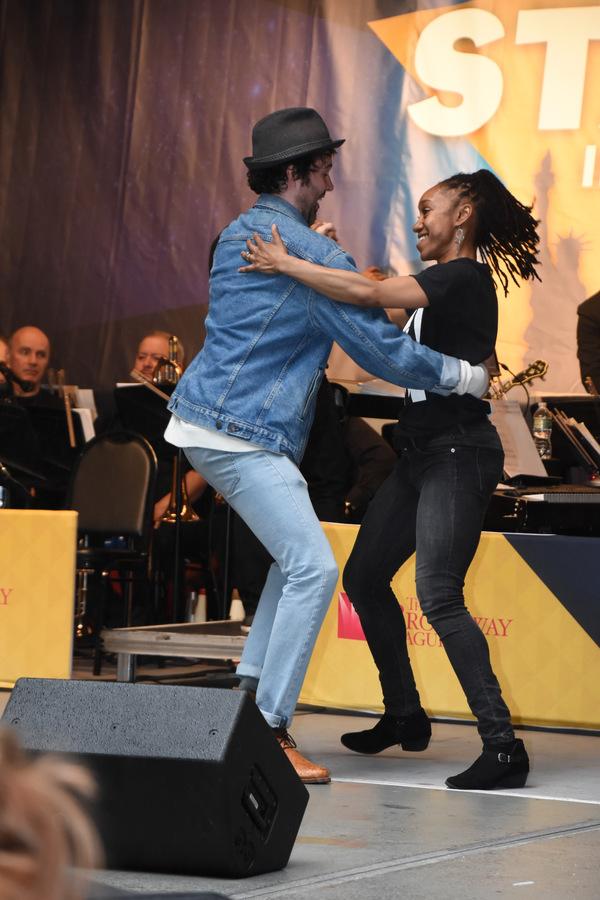 James Davis and Sasha Hutchings Photo