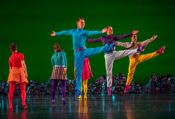 """The Mark Morris Dance Group performs """"Pepperland"""" at BAM Opera House on May 8, 2019. Music by The Beatles and Ethan Iverson  Music arrangements by Ethan Iverson Set design by Johan Henckens Costume design by Elizabeth Kurtzman Lighting design by Nick Koli"""