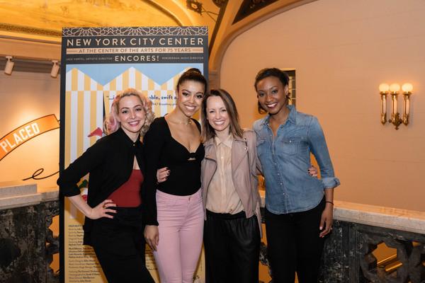 Caitlin Mesh, Cajai Fellows Johnson, and Taeler Elyse Cyrus, with Choreographer Sarah Photo