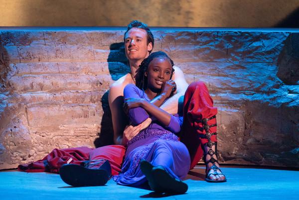 Ken Allen Neely (Radames) and Kayla Cyphers (Aida) Photo