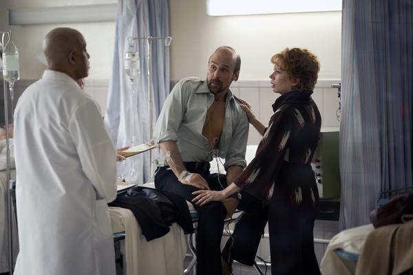 Michael Genet as doctor, Sam Rockwell as Bob Fosse, Michelle Williams as Gwen Verdon