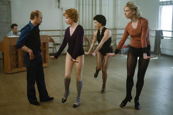 Sam Rockwell as Bob Fosse, Michelle Williams as Gwen Verdon, Bianca Marroquin as Chita Rivera, Heather Lang as Sandy
