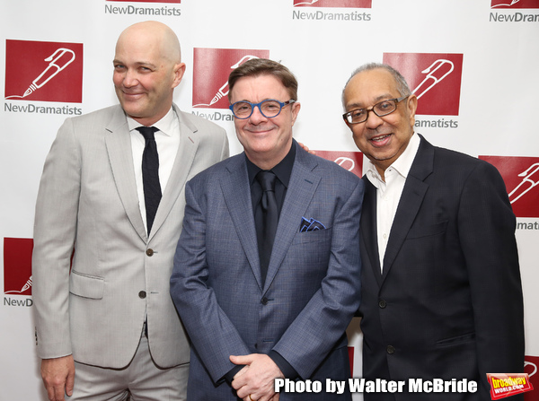 Taylor Mac, Nathan Lane and George C. Wolfe attends The New Dramatists 70th Annual Sp Photo