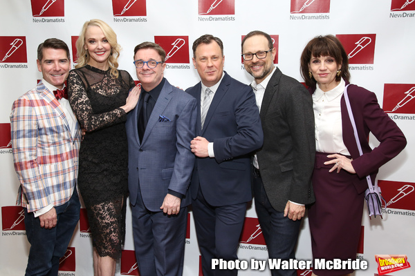 Chad Beguelin, Angie Schworer, Nathan Lane, Brooks Ashmanskas, Matthew Sklar and Beth Leavel