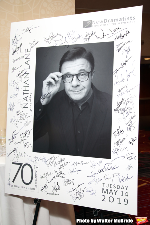 The New Dramatists 70th Annual Spring Luncheon honoring Nathan Lane at Marriott Marquis on May 14, 2019 in New York City.
