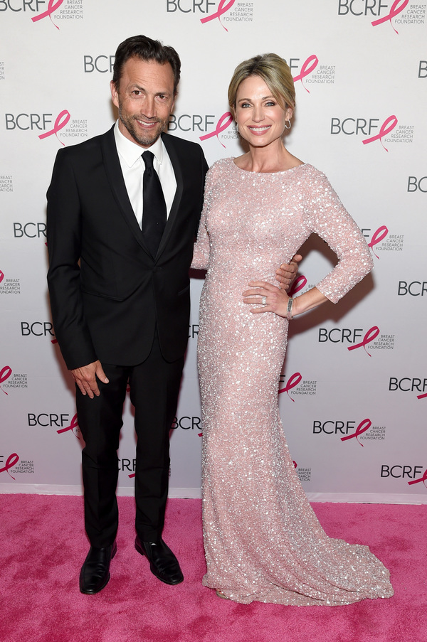 Andrew Shue and Amy Robach