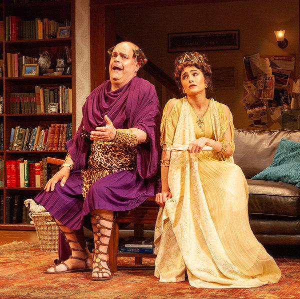Brad Oscar as Dionysus and Jessie Cannizzaro