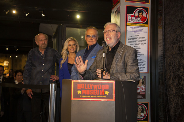 Ken Johnson (Show Creator), Faith Majors, Lee Majors and Film Critic Leonard Maltin Photo