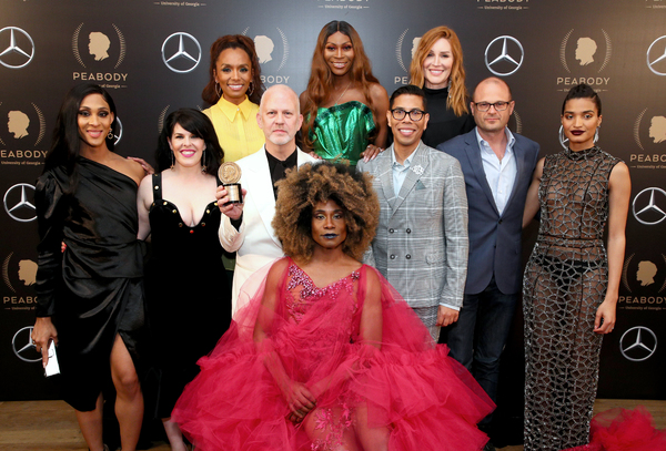 Janet Mock, Dominique Jackson, Our Lady J, Mj Rodriguez, Alexis Martin Woodall Ryan Murphy, Steven Canals, Brad Simpson, Indya Moore, and Billy Porter